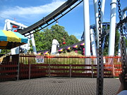 Hershey Park - Great Bear Roller Coaster - 121217 Print by DC Photographer