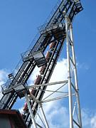 Hershey Park - Sidewinder Roller Coaster - 12121 Print by DC Photographer