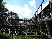 Wildcat Prints - Hershey Park - Wildcat Roller Coaster - 12123 Print by DC Photographer