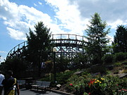 Pretty Art - Hershey Park - Wildcat Roller Coaster - 12124 by DC Photographer