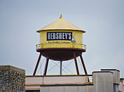 Hershey Posters - Hersheys Water Tower Poster by Bill Cannon
