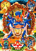 Tibetan Buddhism Framed Prints - Heruka Framed Print by Lanjee Chee
