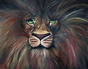 The Lion Witch Wardrobe Prints - Hes not safe--but Hes Good. Print by Sharayah Doty