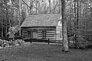 Log Cabin Art Photo Originals - Hesler Log Home 10234b by Guy Whiteley