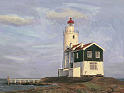 Het Digital Art - Het Paard light house by Nop Briex