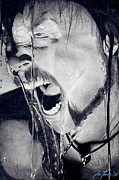 Metallica Drawings Posters - Hetfield Poster by Jonathan Moore