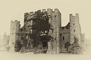 Stone Dwelling Framed Prints - Hever Castle Yellow Plate Framed Print by Chris Thaxter