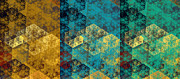 Home Design Abstract Collection - Hexagon Fractal Art Panorama by Andee Photography