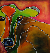 Moo Moo Paintings - Hey Good Lookin by Robin Valenzuela