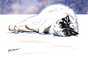 Paws Painting Originals - Hey Kitty by Ruth Bodycott