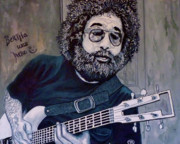 Jerry Prints - Hey Now - Blue Jerry Print by Tom Roderick