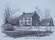 Hezekiah Alexander House Etching Print by Charles Roy Smith