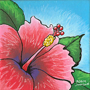 Firecracker Paintings - Hibiscus 03 by Adam Johnson