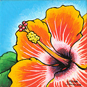 Firecracker Paintings - Hibiscus 04 by Adam Johnson