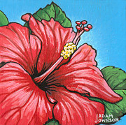 Firecracker Paintings - Hibiscus 05 by Adam Johnson