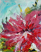 Acrylic Paintings - Hibiscus 2 by Teresa Wegrzyn