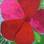 Intense Paintings - Hibiscus Explosion by Angela Annas