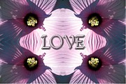 Work Of Art Digital Art Posters - Hibiscus Love Poster by Rose Santuci-Sofranko