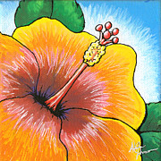 Firecracker Paintings - Hibiscus Number 2 by Adam Johnson