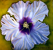 Purple Flowers Tapestries - Textiles Posters - Hibiscus Two Poster by Anderson R Moore