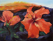 Vulcan Paintings - Hibiscus Volcano by Michael Creese