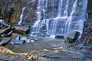 Chimney Rock State Park Prints - Hickory Nut Falls in Chimney Rock State Park Print by Pierre Leclerc