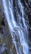 Chimney Rock State Park Prints - Hickory Nut Falls Waterfall NC Print by Dustin K Ryan