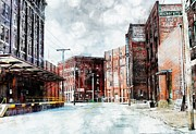 Hickory - Urban Building Row Print by Liane Wright