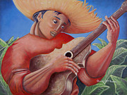 Puerto Rico Paintings - Hidalgo Campesino by Oscar Ortiz