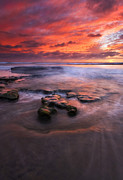 California Seascape Prints - Hidden by the Tides Print by Mike  Dawson