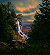Tennessee Prints Paintings - Hidden Falls by Michelle Parsley