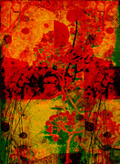 Digital Collage Mixed Media Posters - Hidden Garden Poster by Ann Powell