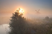 Early Morning Sun Photos - Hidden in the fog by Olha Rohulya