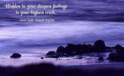 Hidden In Your Deepest Feelings Print by Mike Flynn