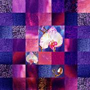 Irina Sztukowski - Hidden Orchids Squared Abstract Design