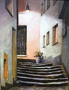 Staircase Paintings - Hidden Stairs by Ron Aucutt