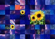 Irina Sztukowski - Hidden Sunflowers Squared Abstract Design
