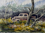 Automobile Paintings - Hidden Treasure by Sam Sidders