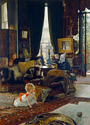 Ball Room Painting Metal Prints - Hide and Seek Metal Print by Tissot
