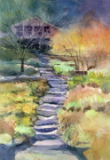 Steps Painting Originals - Hideaway by Kris Parins