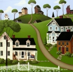 Cottage Print Paintings - Higginsville  by Catherine Holman