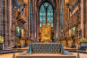 Cathedral Window Prints - High Altar Print by Adrian Evans