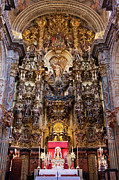 Interior Scene Photo Prints - High Altar of the Seville Cathedral Print by Artur Bogacki
