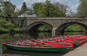 John Adams Photo Prints - High Bridge over River Nidd Knaresborough Print by John Adams