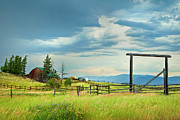 Country Scenes Art - High Country Farm by Theresa Tahara