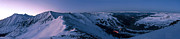 Snowboard Prints - High Country Twilight Panorama Print by Mike Berenson