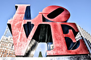 Love Park Framed Prints - High Definition Love Framed Print by Bill Cannon