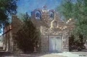 Door Digital Art - High Desert Church by Jeff Kolker