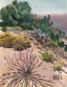 Flora Painting Prints - High Desert Flora Print by Donald Maier
