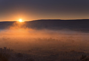 Dawn Metal Prints - High Desert Morning Mist Metal Print by Mike  Dawson